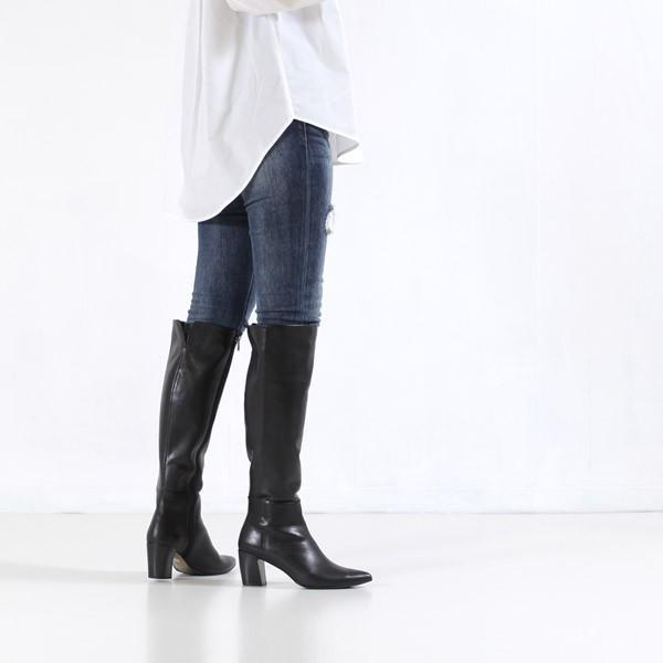 RABOKIGOSHI works ブーツ ラボキゴシ ワークス 靴 12108 本革 ロングブーツ ヒール レディース レザーブーツ セール|washington|04