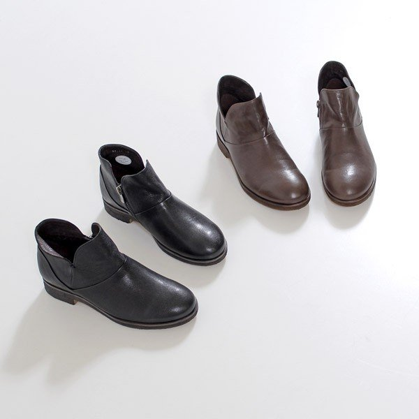 SAYA ブーツ サヤ ラボキゴシ 靴 50511 本革 アンクルブーツ レディース ショートブーツ ローヒール クレープソール 日本製 セール|washington|02