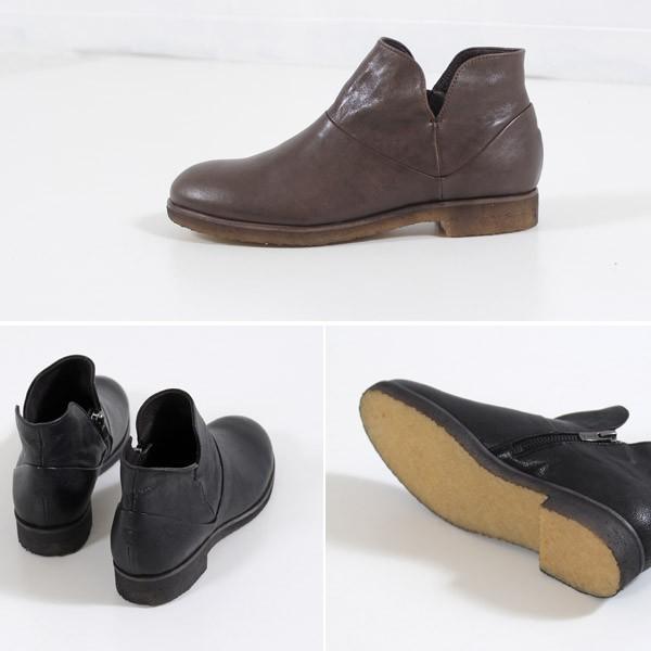 SAYA ブーツ サヤ ラボキゴシ 靴 50511 本革 アンクルブーツ レディース ショートブーツ ローヒール クレープソール 日本製 セール|washington|05