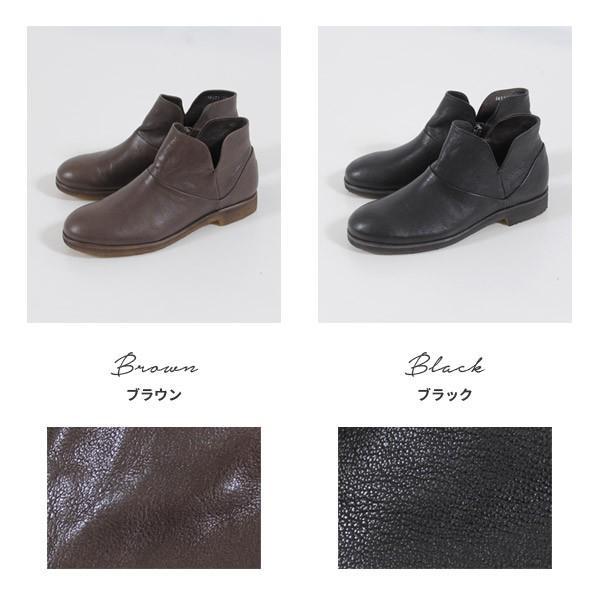 SAYA ブーツ サヤ ラボキゴシ 靴 50511 本革 アンクルブーツ レディース ショートブーツ ローヒール クレープソール 日本製 セール|washington|06