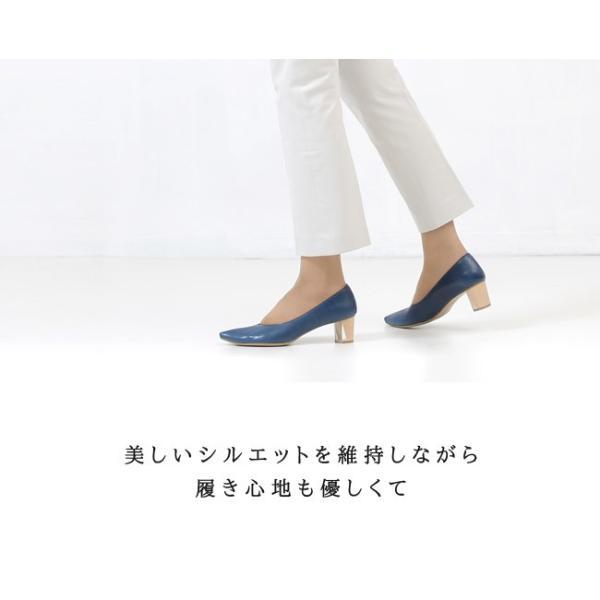 RABOKIGOSHI works 靴 ラボキゴシ ワークス 12164 本革 Vカット パンプス 太ヒール クリア レディース セール|washington|04