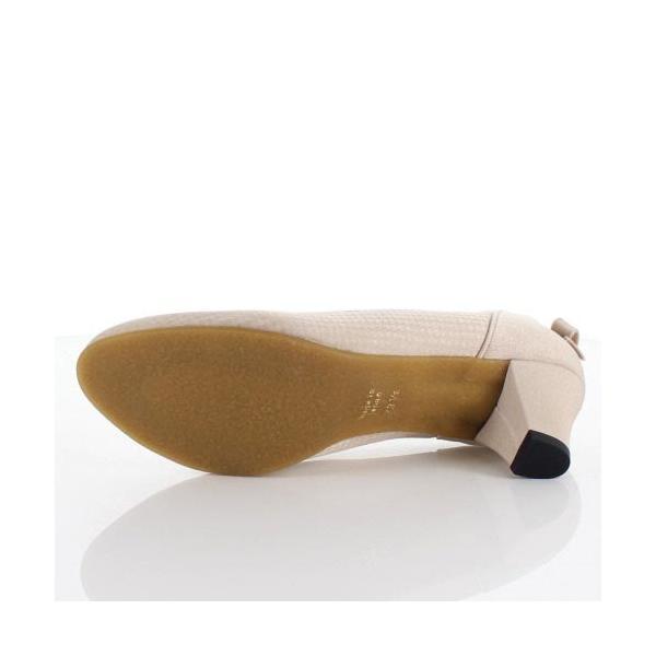 JELLY BEANS ジェリービーンズ 靴 2685 パンプス フラワーカット ヒール バックリボン パーティー ふわさら ベージュ レディース セール|washington|05