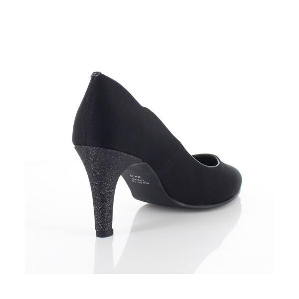 Le Chione ルキオネ 靴 7394 パーティー パンプス リボン ビジュー ラウンドトゥ 結婚式 ブラック 黒 レディース washington 03