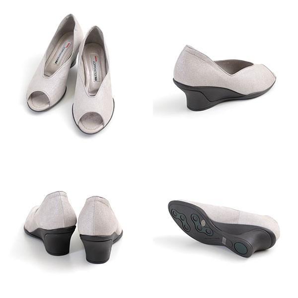 コンポジションナイン COMPOSITION9 靴 2702 コンフォートパンプス オープントゥ レディース ウェッジ ヒール コンポジション9|washington|03