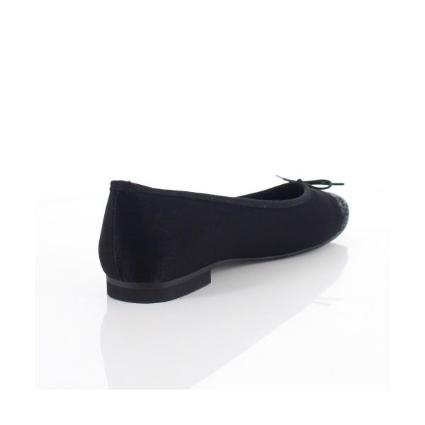 JELLY BEANS ジェリービーンズ 靴 2371 パンプス バレエパンプス バレエシューズ スクエアトゥ リボン 黒 ブラック 日本製 レディース