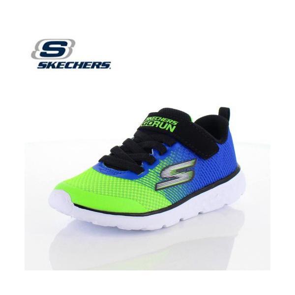 スケッチャーズ キッズ スニーカー Skechers GOrun 400-Kroto 97685L-BLLM 5L/58 ブルー グリーン 子供靴 運動 体育|washington