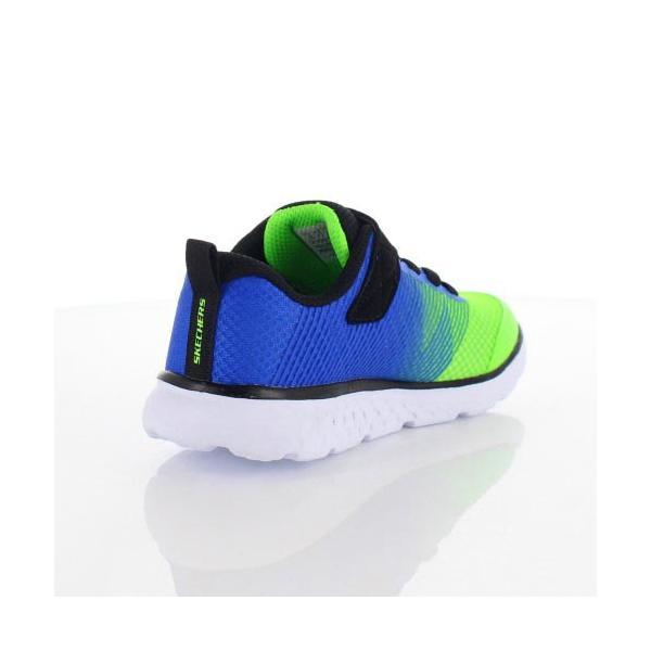 スケッチャーズ キッズ スニーカー Skechers GOrun 400-Kroto 97685L-BLLM 5L/58 ブルー グリーン 子供靴 運動 体育|washington|03