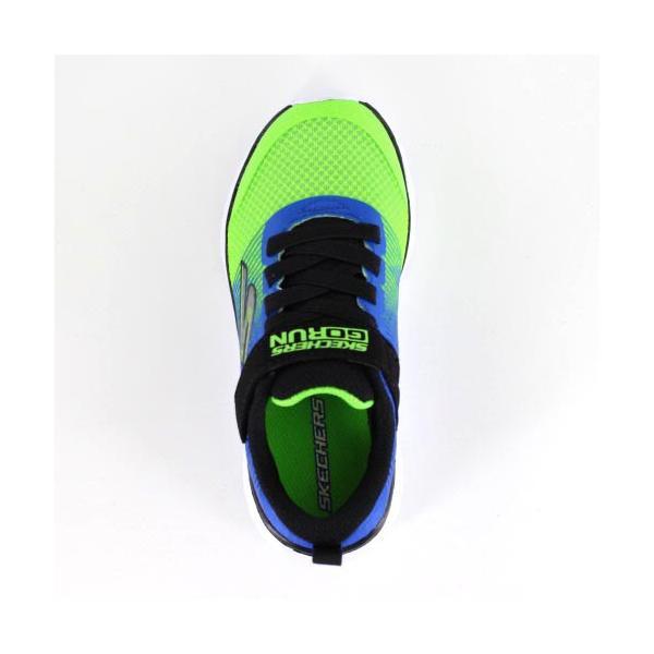 スケッチャーズ キッズ スニーカー Skechers GOrun 400-Kroto 97685L-BLLM 5L/58 ブルー グリーン 子供靴 運動 体育|washington|04