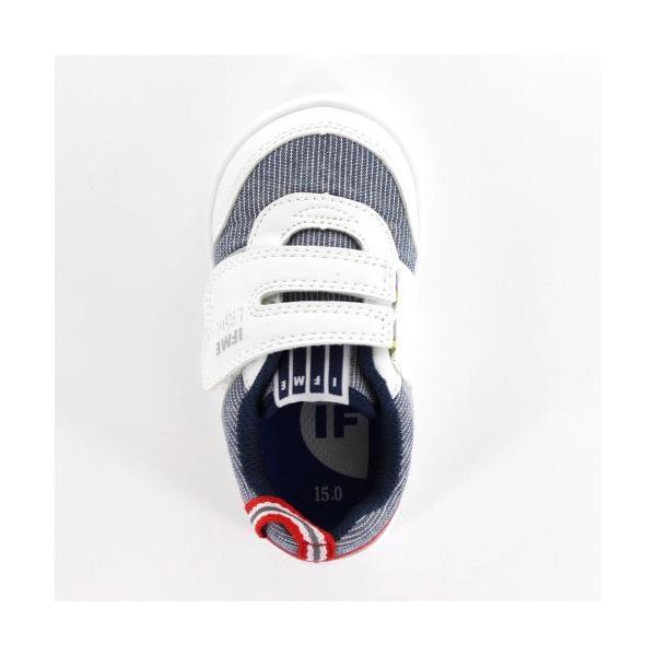 スニーカー イフミー ベビー IFME Light シューズ 22-9002 WHITE キッズ 子供靴 ホワイト ベルト ベルクロ 軽量|washington|04