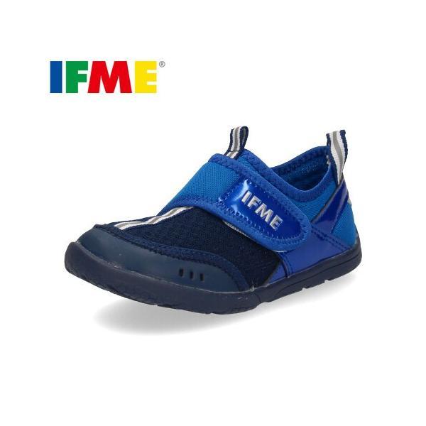 IFME イフミー サンダル 子供靴 水陸両用 キッズ 30-9019 SANDALS BLUE 通園 通学 水遊び ブルー|washington