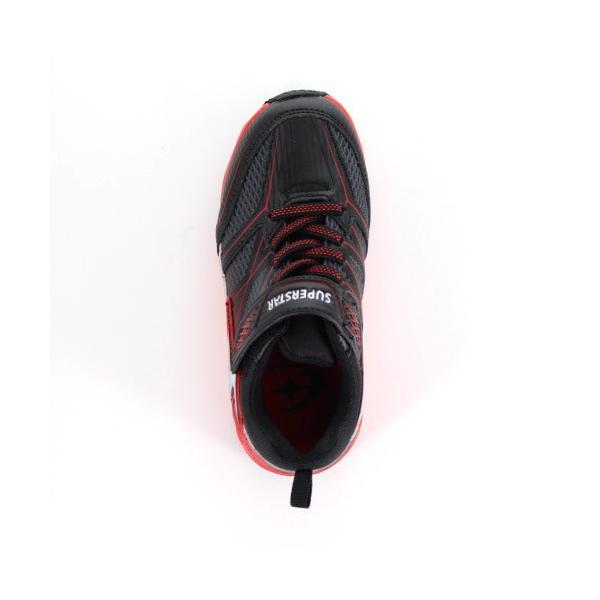 ムーンスター スーパースター バネのチカラ キッズ スニーカー MoonStar J891 BLACK ジュニア 2E 黒 子供靴 運動 体育 雨の日 washington 04