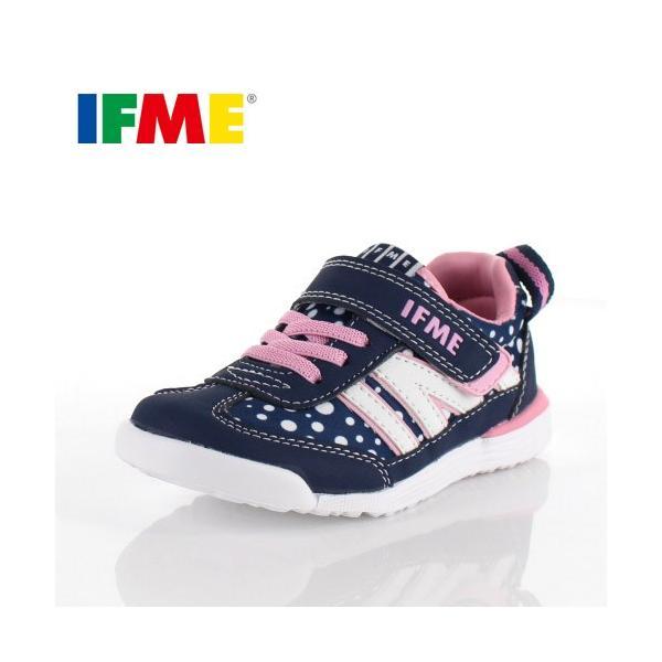 スニーカー イフミー キッズ IFME Light シューズ 22-9009 NAVY ネイビー ジュニア 子供靴 ベルクロ 軽量|washington