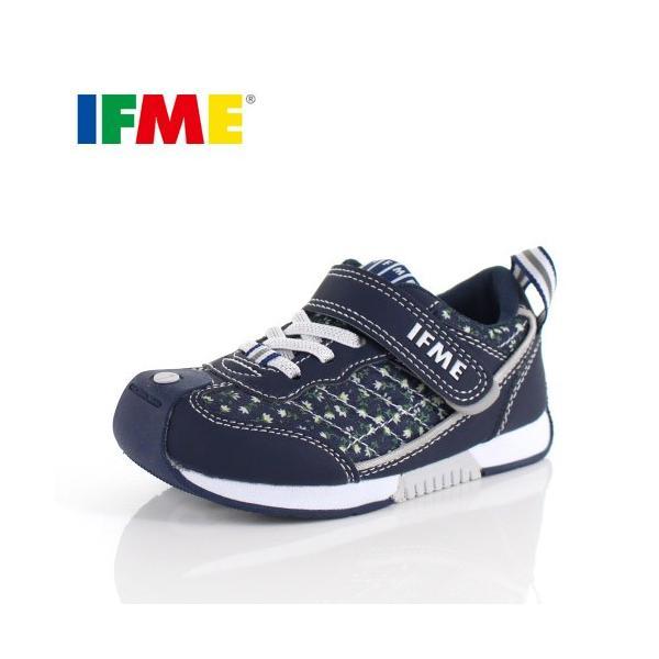 スニーカー イフミー キッズ IFME BASIC シューズ 30-9014 NAVY ネイビー ジュニア 子供靴 ベルクロ 軽量|washington