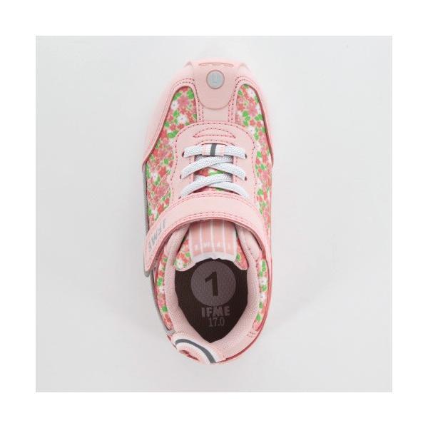 スニーカー イフミー キッズ IFME BASIC シューズ 30-9014 PINK ピンク ジュニア 子供靴 ベルクロ 軽量|washington|04
