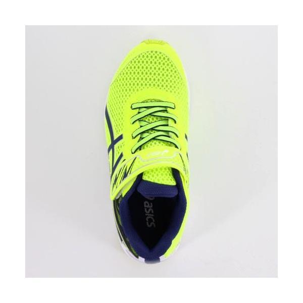 asics アシックス 靴 18 LAZERBEAM RD-MG 1154A018 スニーカー レーザービーム 運動靴 黄色 イエロー ベルクロ ジュニア キッズ|washington|04