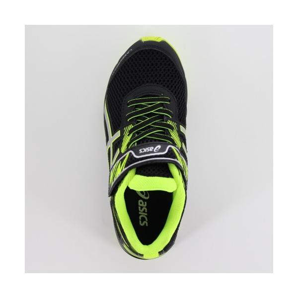 asics アシックス 靴 18 LAZERBEAM RD-MG 1154A018 スニーカー レーザービーム 運動靴 黒 ブラック イエロー ベルクロ ジュニア キッズ washington 04