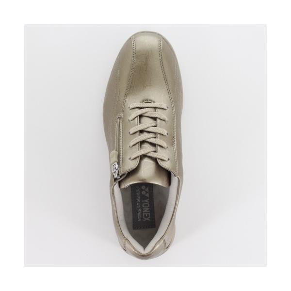 ヨネックス パワークッション レディース ウォーキングシューズ YONEX SHW-LC30 パール グレージュ スニーカー 靴 幅広 3.5E ゴールド