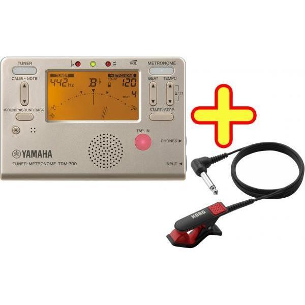 YAMAHA(ヤマハ) TDM-700G ゴールド チューナーメトロノーム クロマチックチューナー 管楽器 metronome tuner gold CM-300 セット B