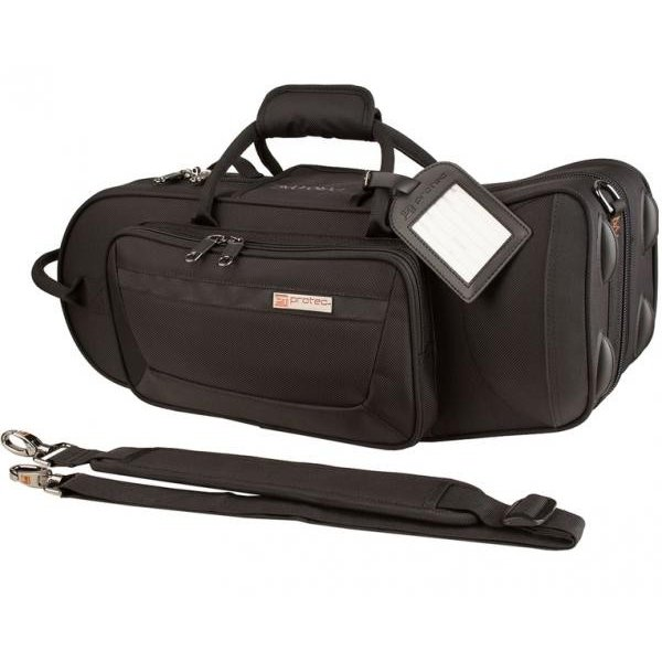 PROTEC PB-301TL トランペットケース ショルダータイプ ブラック 管楽器 セミハードケース 肩掛け ストラップ付き シングルケース trumpet single case