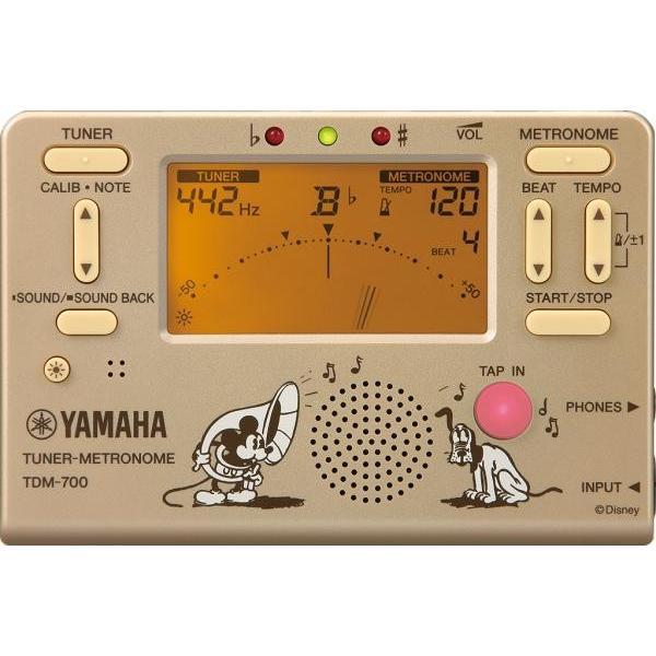 YAMAHA(ヤマハ) TDM-700DMK ミッキーマウス ゴールド チューナーメトロノーム ディズニー クロマチックチューナー メトロノーム 北海道不可 沖縄不可 離島不可