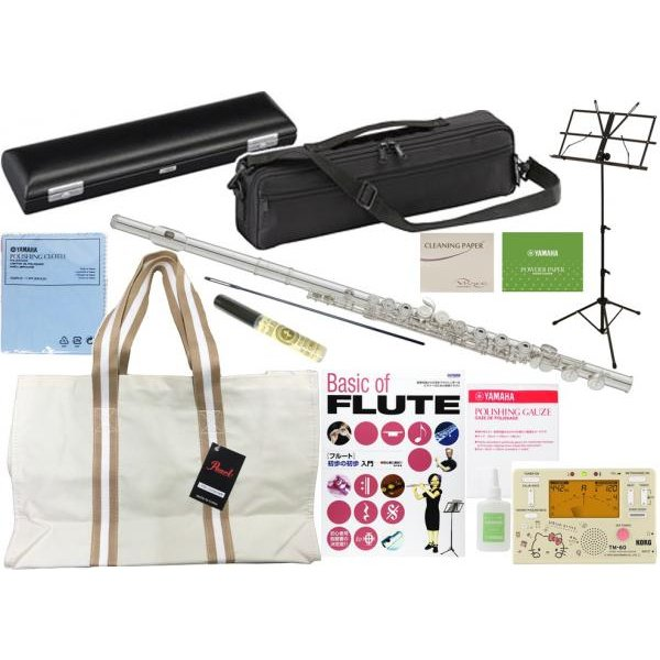 YAMAHA(ヤマハ) YFL-212 フルート 正規品 Eメカニズム 銀メッキ カバードキイ オフセット 管楽器 C管 flute セット TM-60-SKT キティ  北海道 沖縄 離島不可