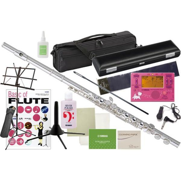 Pearl Flute(パールフルート) PF-505E フルート 新品 プレスト Eメカニズム 銀メッキ カバードキイ C管 Presto PF505E flute マリー チューナー セット