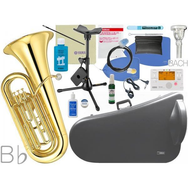 YAMAHA(ヤマハ) YBB-105 新品 B♭ チューバ 3ピストン 日本製 ラッカー 管体 ピストンチューバ 管楽器 tuba セット A 北海道 沖縄 離島 代引 不可