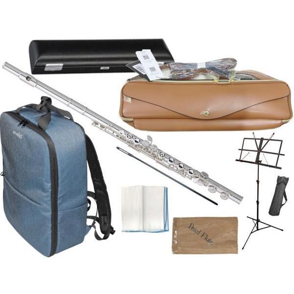 Pearl Flute(パールフルート) PF-505E フルート 新品 プレスト Eメカニズム 銀メッキ カバードキイ C管 Presto PF505E flute セット O 北海道 沖縄 離島 不可