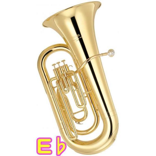 YAMAHA(ヤマハ) YEB-201 新品 E♭ チューバ 3ピストン 日本製 ゴールド トップアクション ピストンチューバ 管楽器 アップライト式 tuba 北海道 沖縄 離島不可