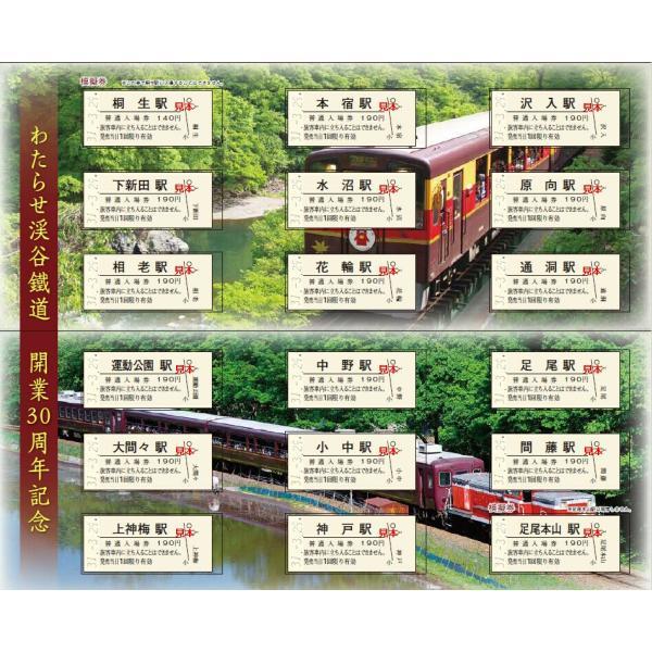 わたらせ渓谷鐵道開業30周年記念全駅入場券セット|watarase|02