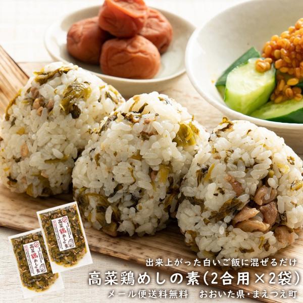 高菜鶏めしの素 米2合用 2袋セット 国産たかな使用 出来上がったご飯に混ぜるだけ 1000円 ポッキリ ポイント消化 送料無料セール