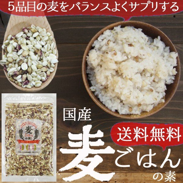 麦ごはんの素 200g 食物繊維 水溶性食物繊維βグルカン 国産 殻付もち麦60%配合 腸活 送料無料セール|watasyoku|12