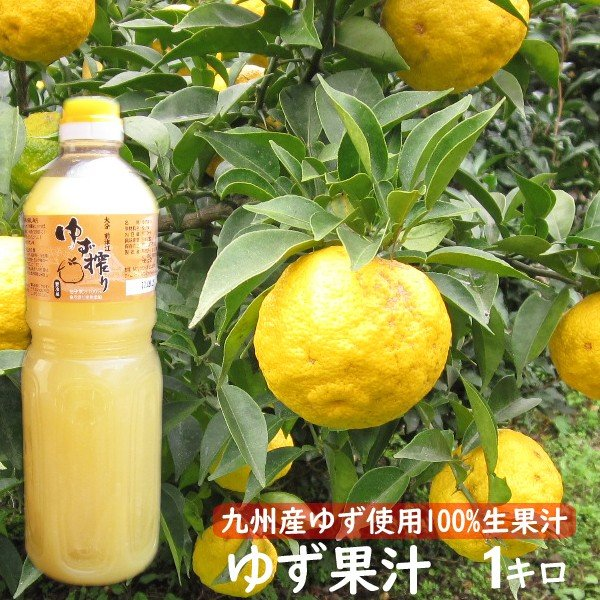 ゆず酢 ゆず果汁 柚子果汁 100% 1キロ 業務用 九州産ゆず|watasyoku