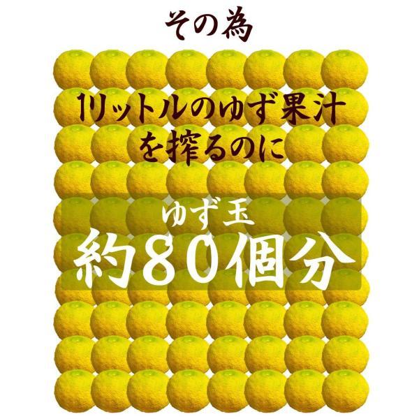 ゆず酢 ゆず果汁 柚子果汁 100% 1キロ 業務用 九州産ゆず|watasyoku|04
