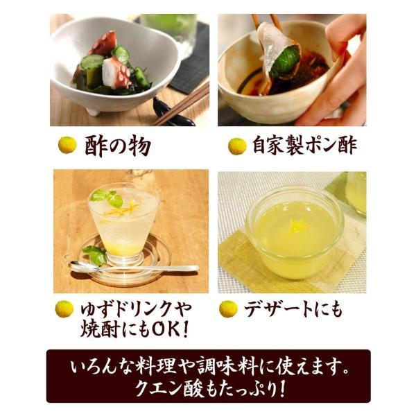 ゆず酢 ゆず果汁 柚子果汁 100% 1キロ 業務用 九州産ゆず|watasyoku|05