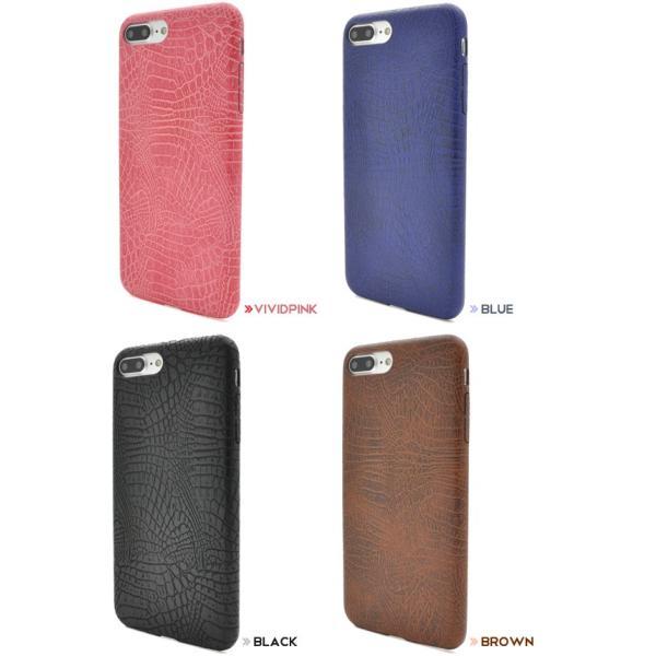 アイフォンケース iPhone7Plus/iPhone8Plus(5.5インチ)用 クロコダイルソフトケース アイフォン7PLUS アイフォン7プラス アイフォン8PLUS アイフォン8プラス|watch-me|03