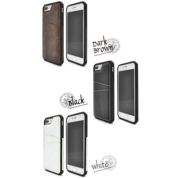アイフォンケース iPhone7Plus/6Plus/6Splus/8Plus(5.5インチ)用 ポケット付きレザーデザインケース ポケット付きレザーデザインケース バックケースタイプ|watch-me|03