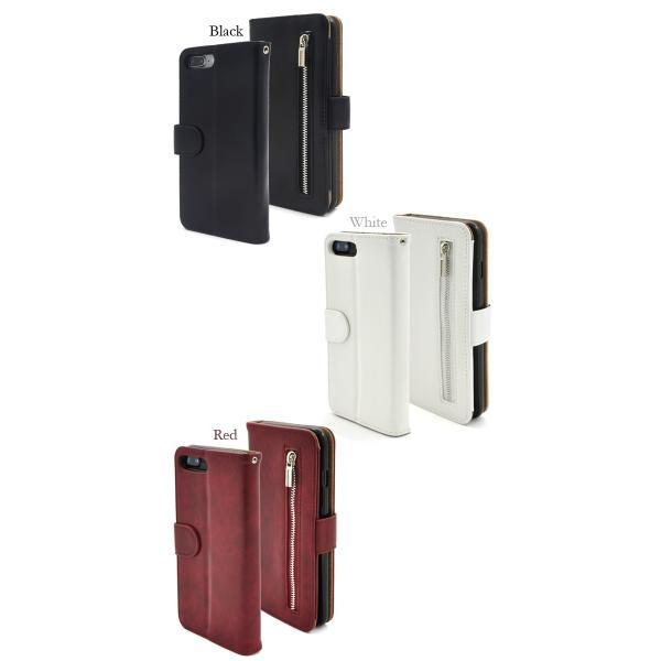 アイフォンケース iPhone7Plus/iPhone8Plus(5.5インチ)用 ファスナー&ポケットレザーケースポーチ アイフォン7PLUS アイフォン7プラス アイフォン8PLUS|watch-me|05