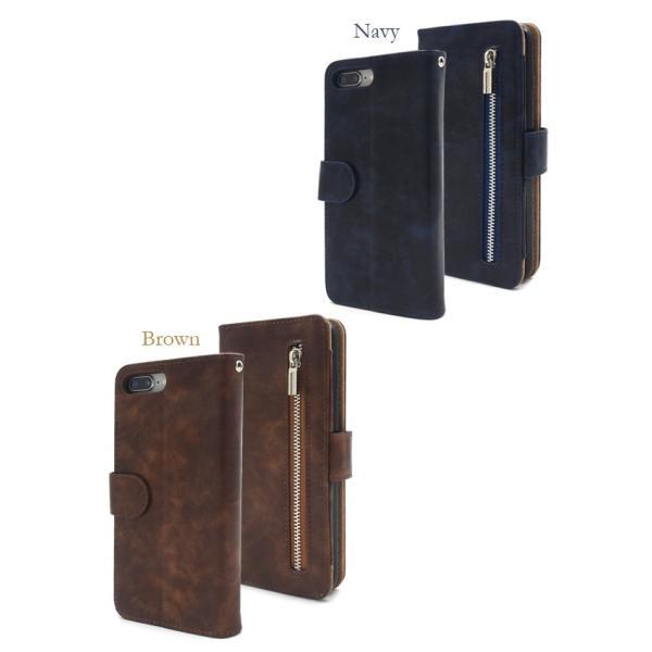 アイフォンケース iPhone7Plus/iPhone8Plus(5.5インチ)用 ファスナー&ポケットレザーケースポーチ アイフォン7PLUS アイフォン7プラス アイフォン8PLUS|watch-me|06