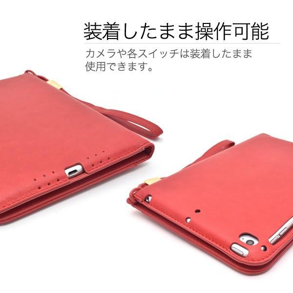 iPad mini/2/3/4用 ポケットカラーレザー手帳型ケース 手帳型 横開き スタンド機能付 for Apple iPad mini アイパッドミニ4 watch-me 06