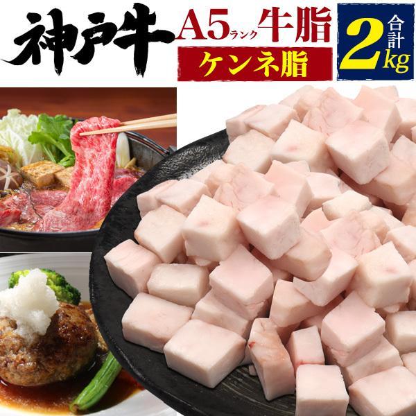 神戸牛 ケンネ脂 牛脂 2kg ブロック うま味 旨味 隠し味 肉料理 万能 用途色々 カット済み 兵庫県 黒毛和牛 ブランド牛  牛脂ダイエット 高脂質ダイエット