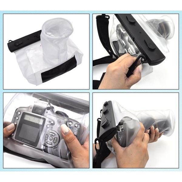 一眼レフカメラ用防水バッグ(レンズ9.5×15cm)  防水ケース|watch-me|03