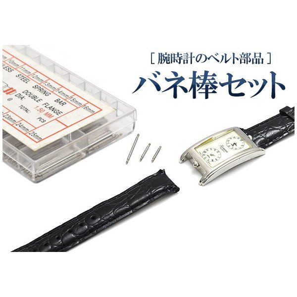 プロ用時計工具 腕時計用ベルト交換に、ケース用バネ棒セット各13P 6〜23mm (ばね棒・スプリングバー)|watch-me