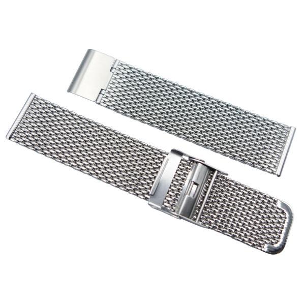 バンビ BSN1211S BAMBI  時計用 ベルト ステンレス 厚型メッシュタイプ メンズ 20mm 正規品
