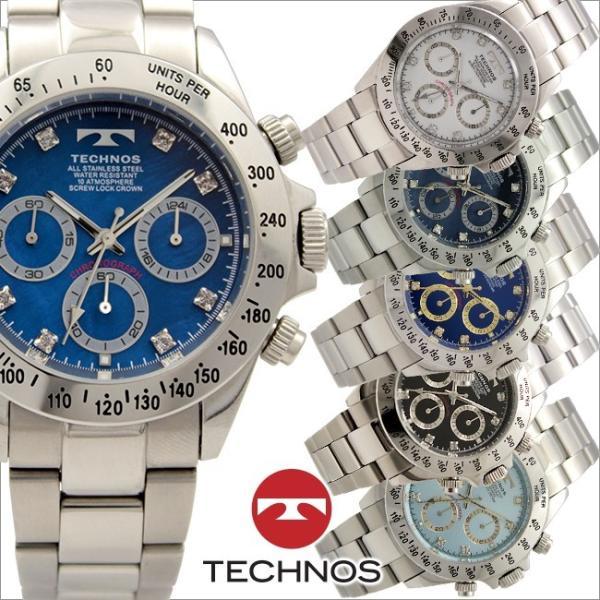 5e0d898c3d テクノス T4676 オールステンレスモデル クロノグラフ 腕時計 メンズ TECHNOS 正規品 アウトレット ...
