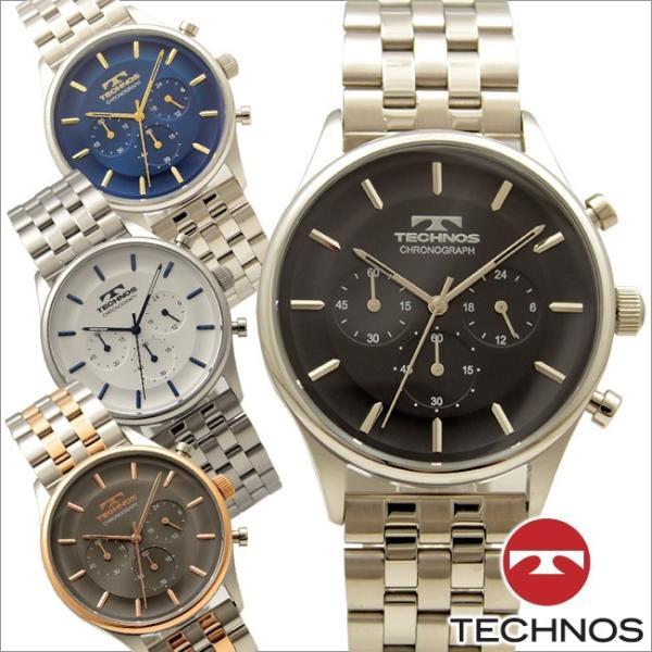 d9cce0c0f2 テクノス T6644 オールステンレスモデル クロノグラフ 腕時計 メンズ TECHNOS 正規品 アウトレット|watch- ...