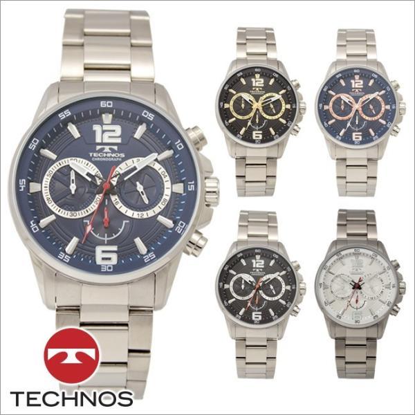 3258c2382f テクノス T8666 オールステンレスモデル クロノグラフ 腕時計 メンズ TECHNOS 正規品 アウトレット|watch- ...