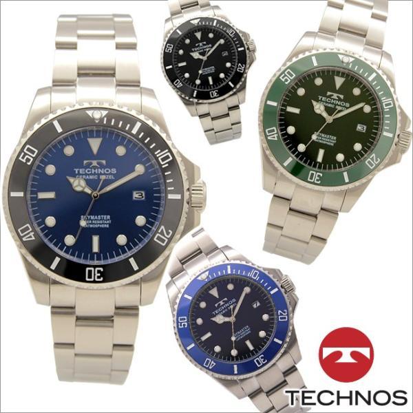 ab3efd0032 テクノス T9598 セラミック&ステンレスモデル 回転ベゼル 腕時計 メンズ TECHNOS 正規品 アウトレット ...