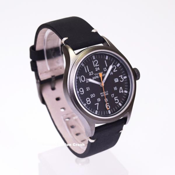腕時計 メンズ TIMEX TW4B01900 本革 ミリタリー ブラック TIMEX EXPEDITION SCOUT METAL BOXなし メール便 watchcrash 02