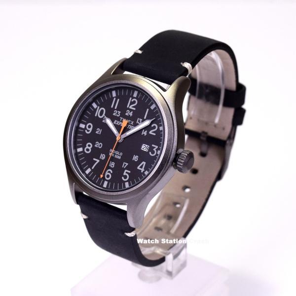 腕時計 メンズ TIMEX TW4B01900 本革 ミリタリー ブラック TIMEX EXPEDITION SCOUT METAL BOXなし メール便 watchcrash 03